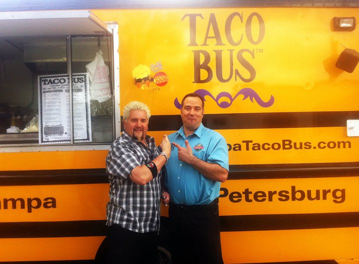 Guy Fieri Visits the Taco Bus