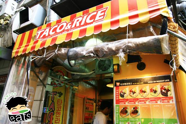 Carlos Eats Seoul: Taco & Rice Mexican Fusion (Edae)