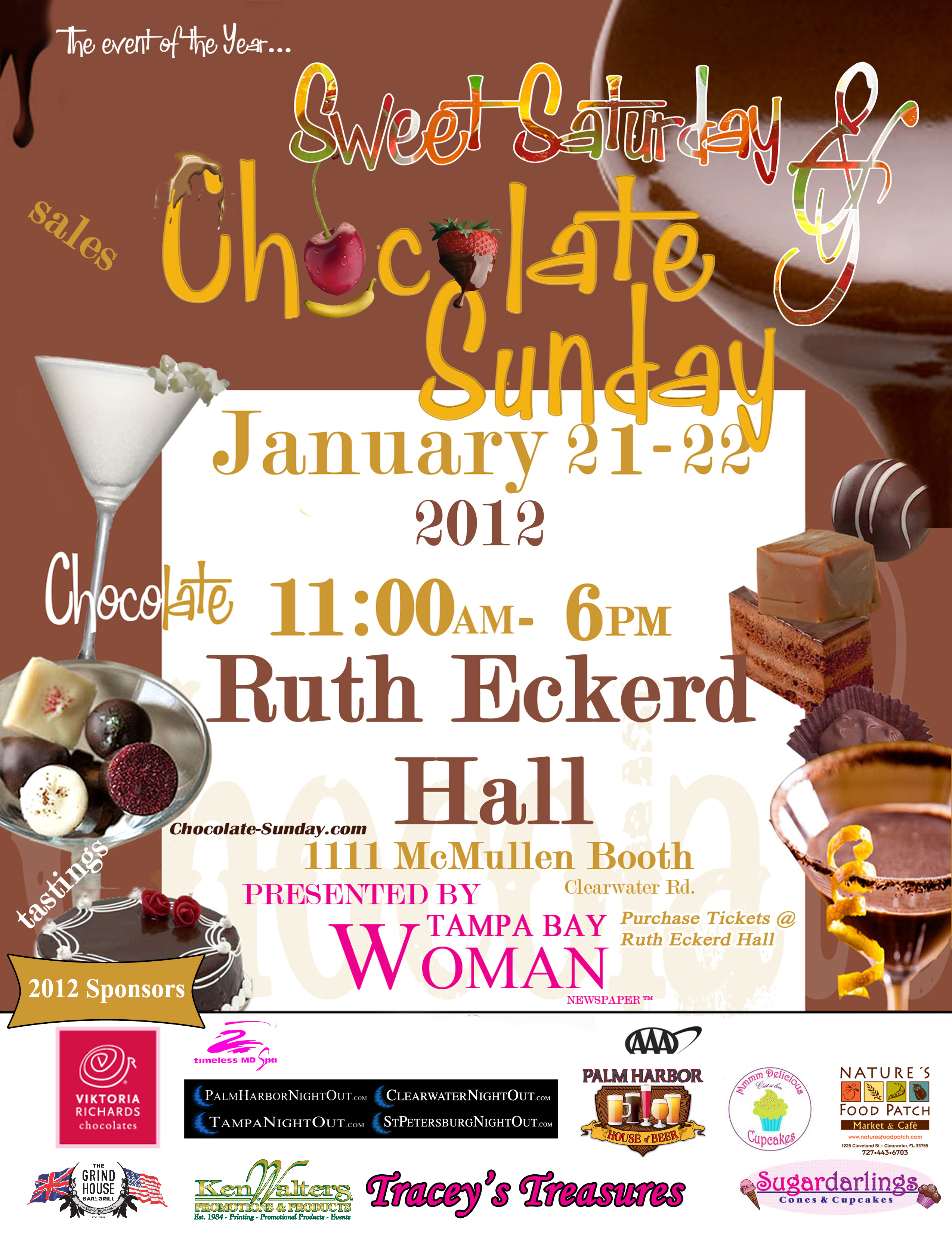 Sweet Saturday and Chocolate Sunday this weekend @ Ruth Eckerd Hall