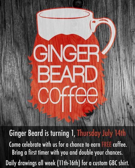 Ginger Beard Coffee Flyer