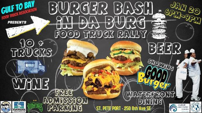 Burger Bash in Da Burg Food Truck Rally – 1/20