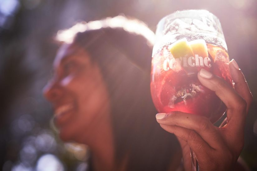 Ceviche Paella Porch Party Sundays: $25 Unlimited Sangria and Paella