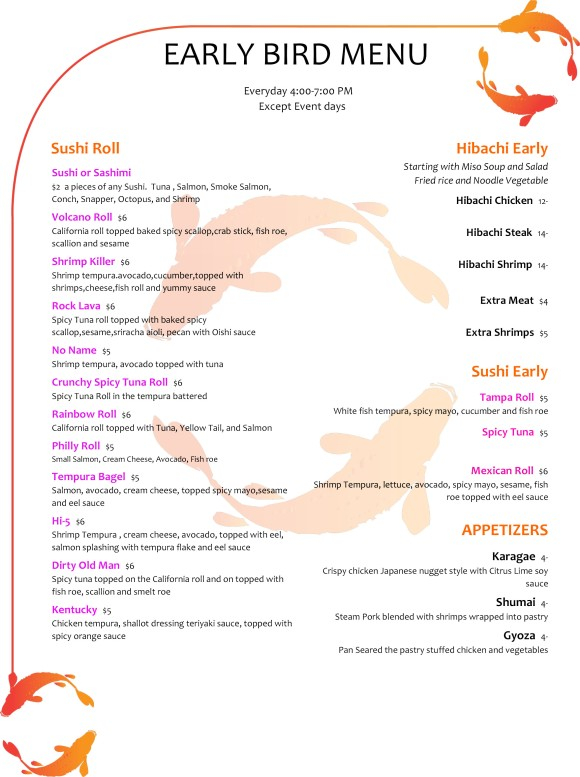 early-Bird-Menu
