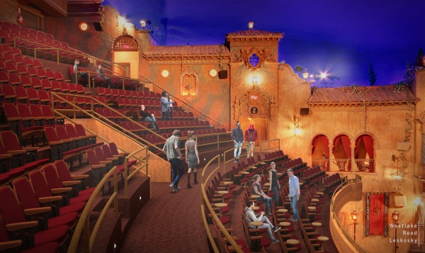 Tampa Theatre Mezzanine Level Rendering