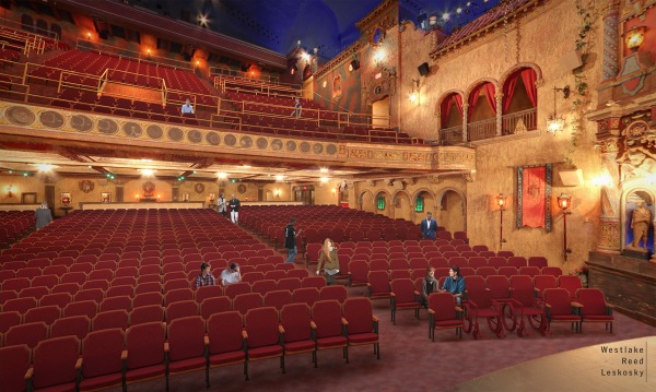 Tampa Theatre Orchestra Level Rendering