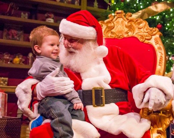 Busch Gardens Tampa Bay Christmas Town Santa