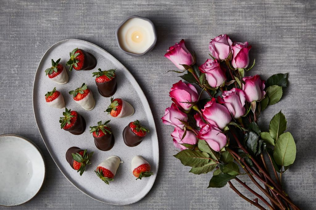 Roses and Chocolate-covered Chocolates