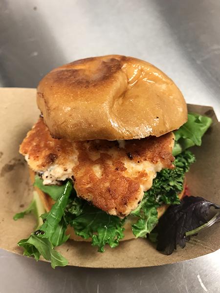 Salmon Burger sample