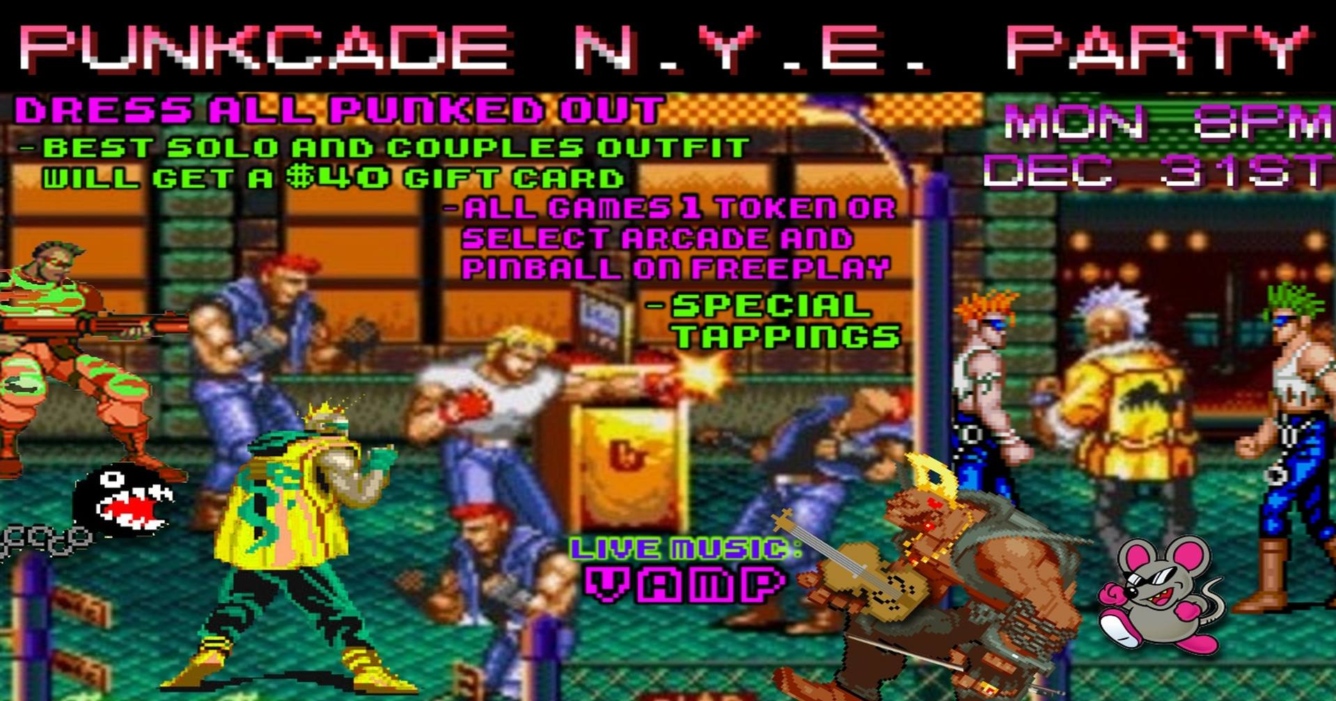 Punkcade NYE New Year's Eve Party at Lowry Parcade Tampa