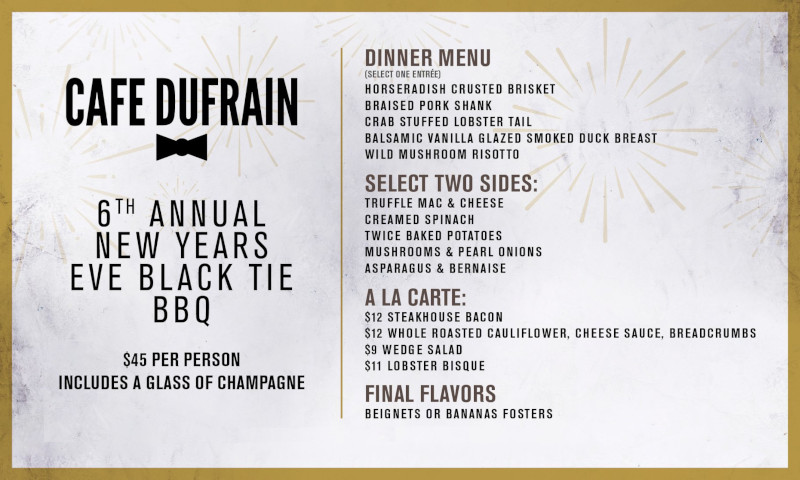 6th Annual New Years Eve Black Tie Bbq At Cafe Dufrain Carlos Eats