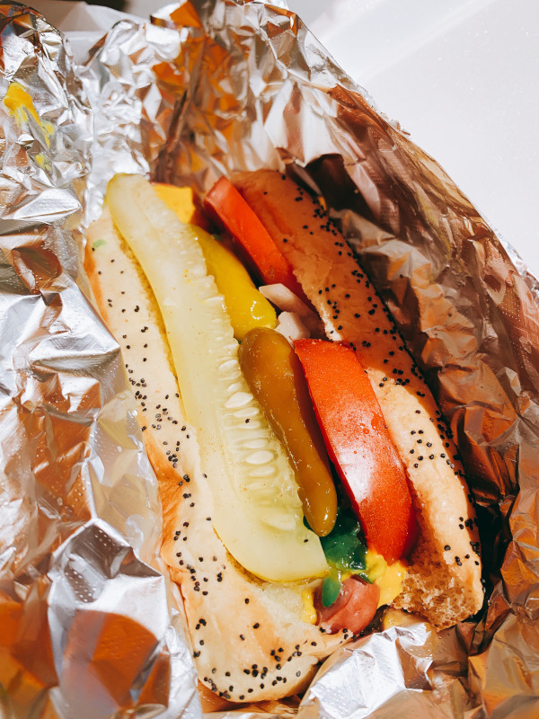Chicago Hot Dog from Chicago Paulie's in Tampa