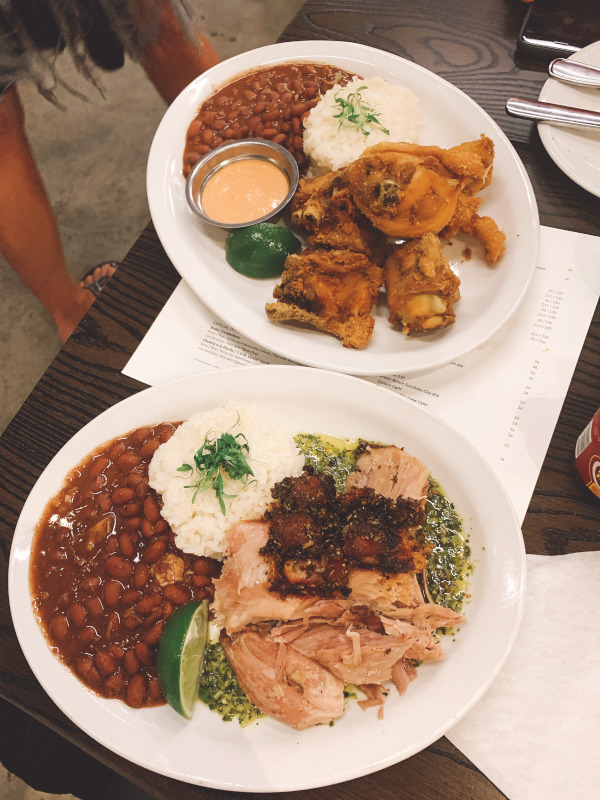 Dinner dishes at WEPA Cocina de Puerto Rico St. Pete