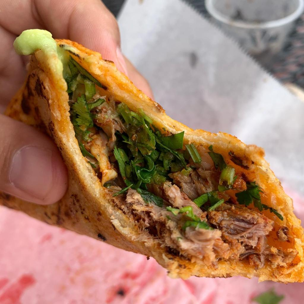 Birria taco at Jimmy's Tacos.