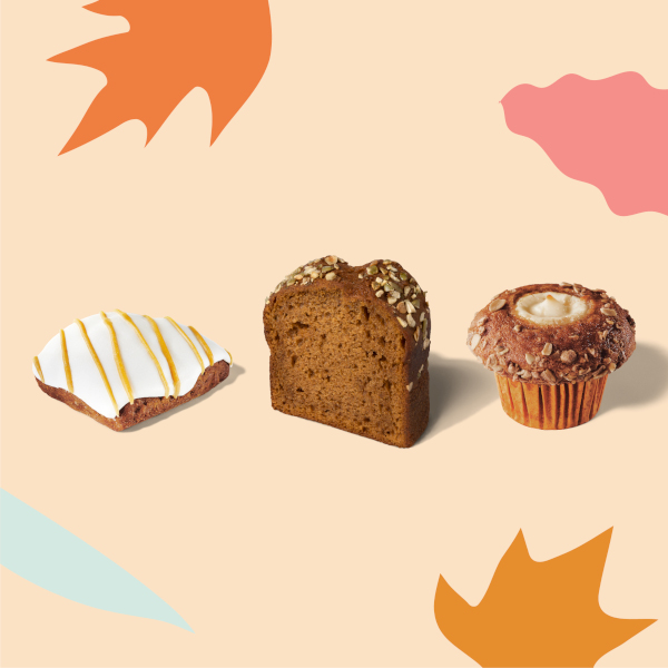 Pumpkin Cream Cheese Muffin, Pumpkin Scone, and Pumpkin Bread at Starbucks