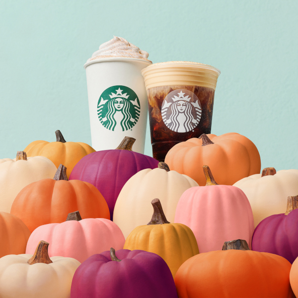 Pumpkin spice is back at Starbucks.